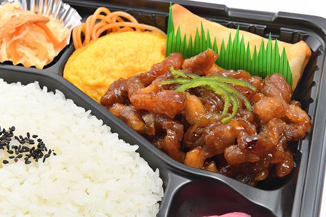 豚の甘辛炒め弁当1
